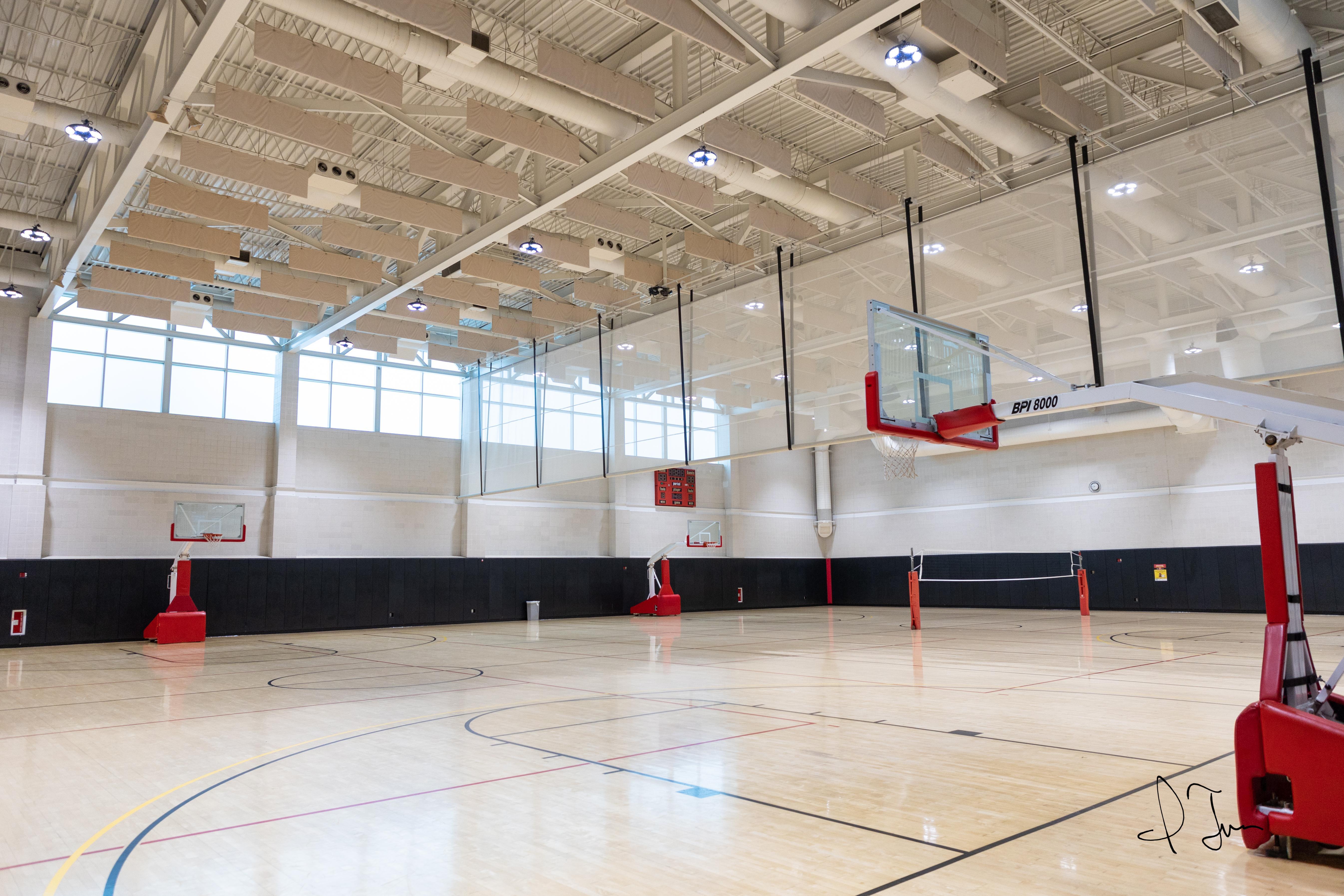 east gym basketball court